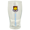 West Ham word mark pint glass