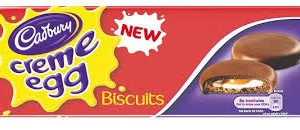 Creme egg biscuit