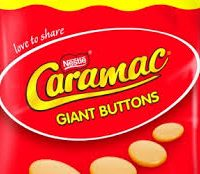 Giant caramac buttons