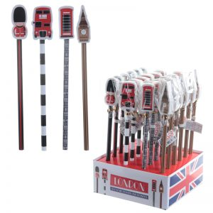 London Icon pencil with Eraser topper