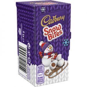 Cadbury Snow bites carton